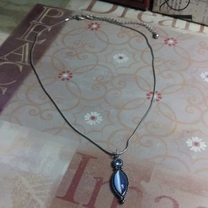 Vintage Teal charm necklace